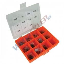 Zestaw podkładek pod cewkę BOSCH średnica: 15,70 mm, Otwór: 10,50 mm, Grubość: 1,20   1,30 mm. (11 rozmiarów) Toleranc