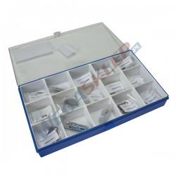 Zestaw podkładek kompensacyjnych 5 rozmiarów (1,5 11 10 9 7,5 mm) i 3 dystanse (0,05 0,1 0,2 mm)