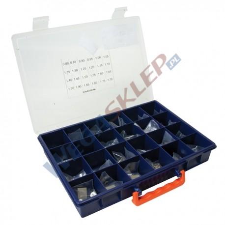 Zestaw podkładek kompensacyjnych średnica 9,8 mm grubość od 1 do 1,95 mm co 0,05 mm