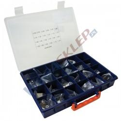 Zestaw podkładek kompensacyjnych średnica 11,4 mm grubość od 0,8 do 1,95 mm co 0,05 mm