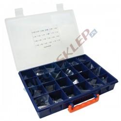 Zestaw podkładek kompensacyjnych średnica 7,35 mm grubość od 0,8 do 1,95 mm co 0,05 mm