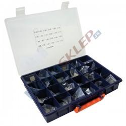 Zestaw podkładek kompensacyjnych średnica 8,5 mm grubość od 0,8 do 1,95 mm co 0,05 mm