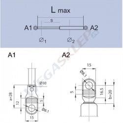Sprężyna gazowa GS0009 Fiat 127L, C, Cl