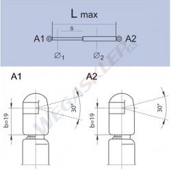 Sprężyna gazowa GS0774 Kia Picanto (Bc/Sa)