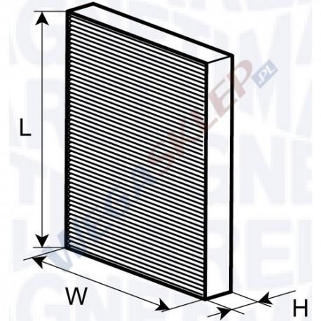 Filtr Kabinowy Magneti Marelli Czsteczkowy Standard Mm350203062730