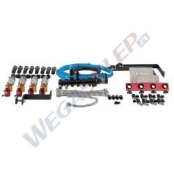 Szyna paliwowa z podstawowym wyposażeniem do testowania wtryskiwaczy Common Rail (opcjonalnie: adaptery)
