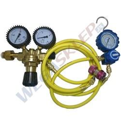 Zestaw do sprawdzania szczelności klimatyzacji za pomocą azotu 15 bar z manometrem niskiego ciśnienia