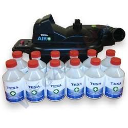 Urządzenie ultradźwiękowe AIR+ oraz 12 butelek środka czyszczącego do klimatyzacji