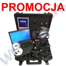 Texa Navigator TXB Evolution z oprogramowaniem IDC5 Bike, walizką przewodów diagnostycznych S0493C i laptopem