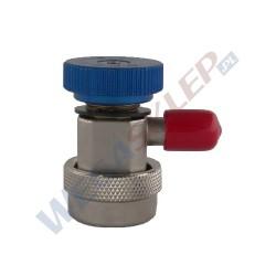 Szybkozłączka niskiego ciśnienia LP do R134a z gwintem zewnętrznym 1/4 cala 13mm